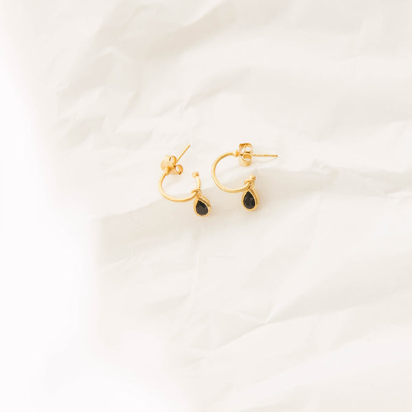 Lillie drop earrings in Black Onyx