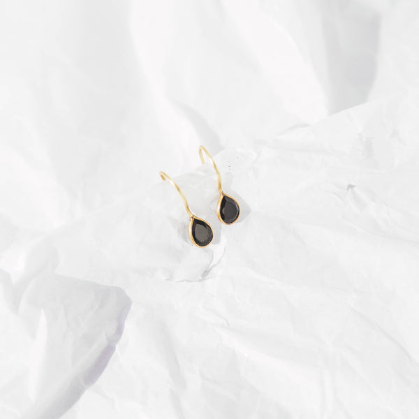 AlaÏa earrings in Black Onyx