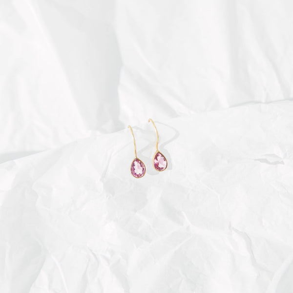 AlaÏa earrings in Maroon Crystal