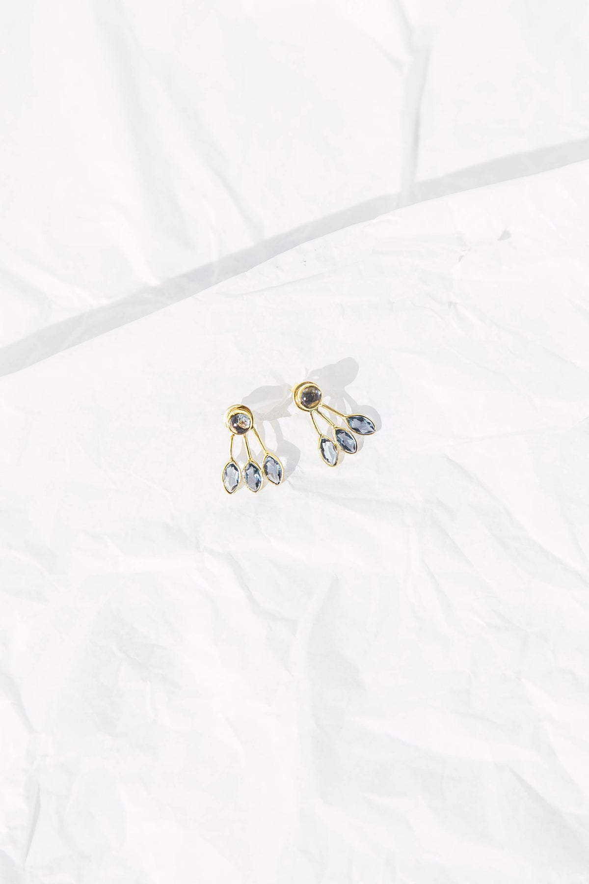 Reese earrings in Blue Crystal