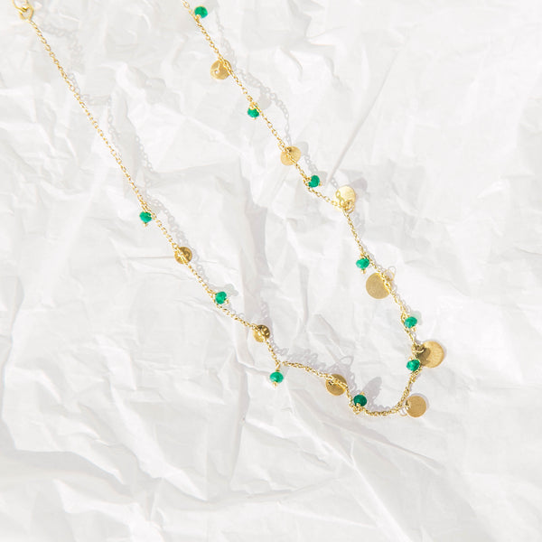 Frankie Necklace in Green Onyx