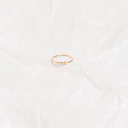 14KT Solid Gold Opal Trio Ring