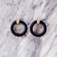Pichulik Beaded Full Circle Earrings