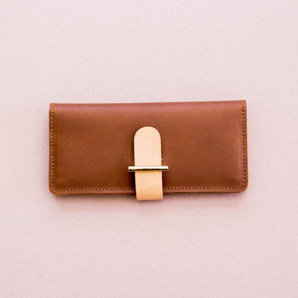 Etui Wallet in Tan