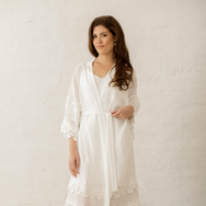Anglaise Kimono Inspired Gown | Ivory