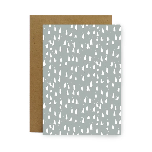 Silver Drops Gift Card by Little Bird