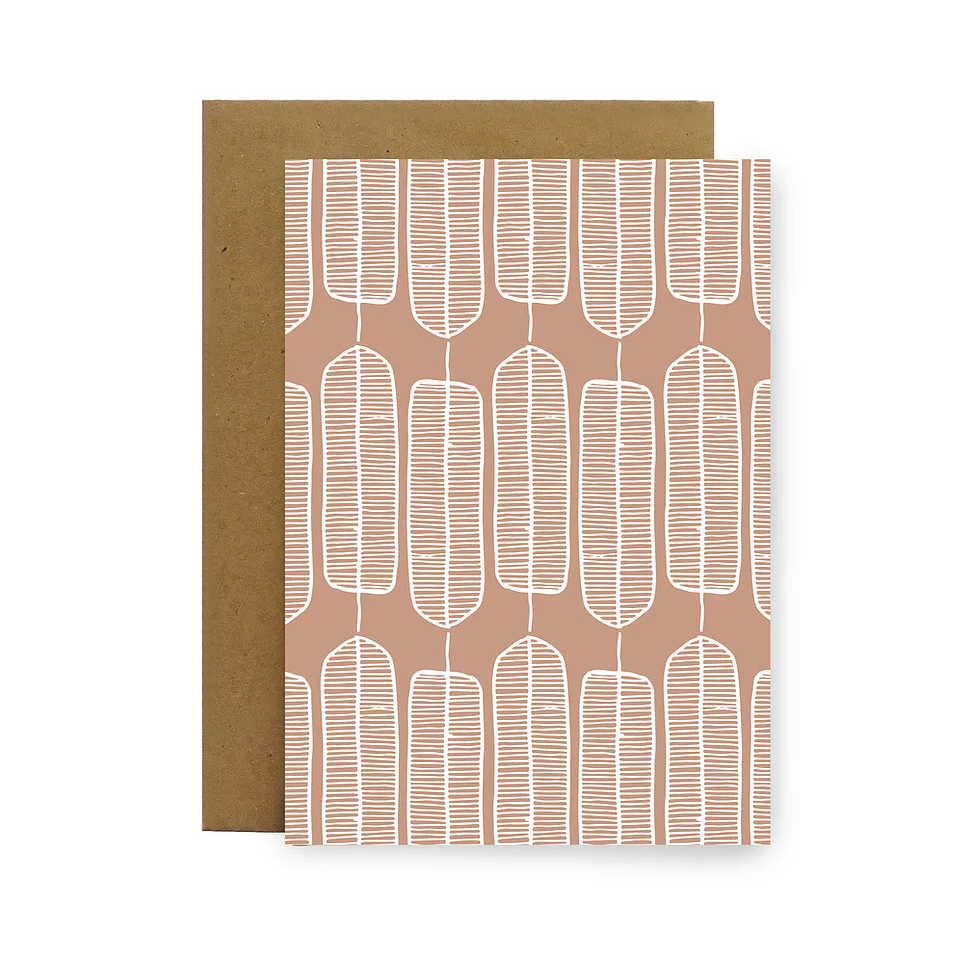 Blush Feathers Gift Card by Little Bird