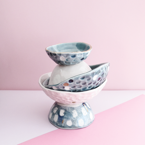 Exclusive Blue Play Bowl in Small by Klomp