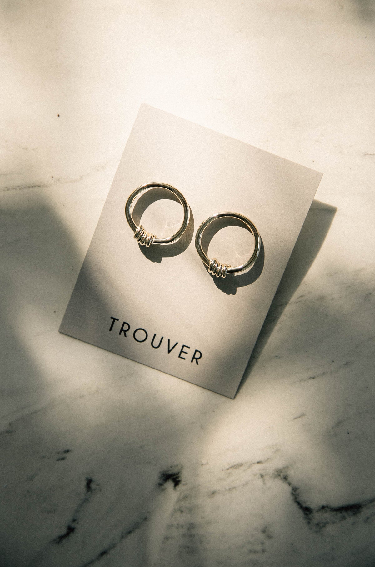 Torcao Brass Earrings by Trouver