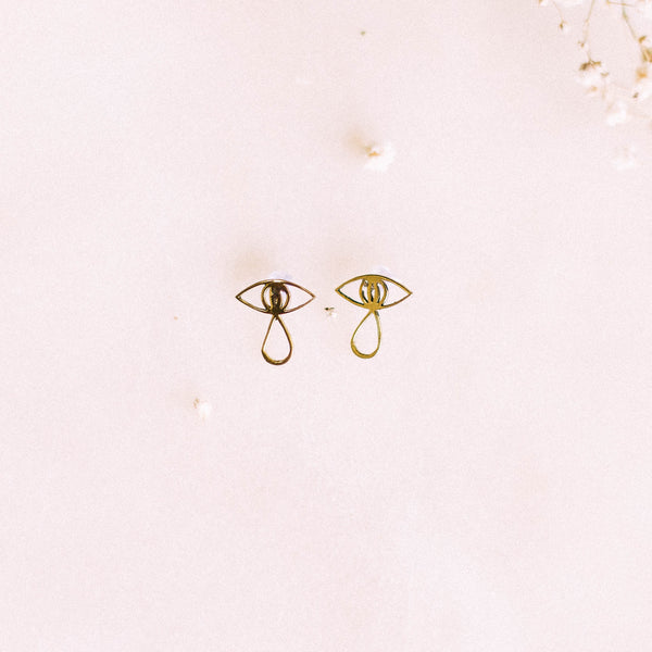 Velvet Eyes Earrings by Yellow Jewellery