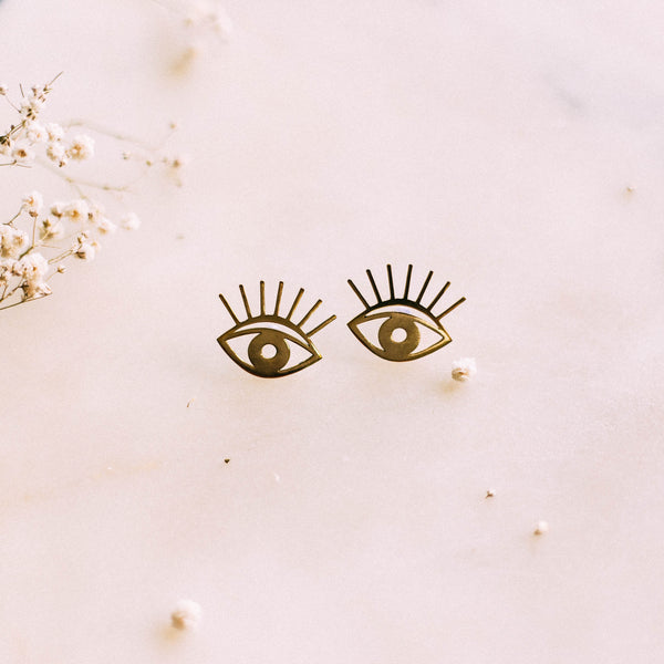 Eye Earrings by Yellow Jewellery