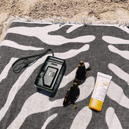 Zebra Black Turkish Towel