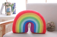 Rainbow Pillow - Red