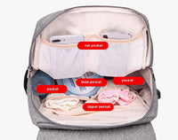 State of Baby Diaper Backpack with USB Charger (Pink)