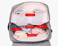 State of Baby Diaper Backpack with USB Charger