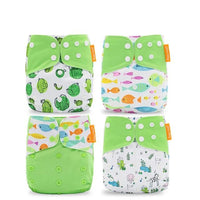 Reusable Diaper Set of 4 - Lime