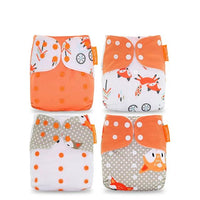 Reusable Diaper Set of 4 - Tangerine