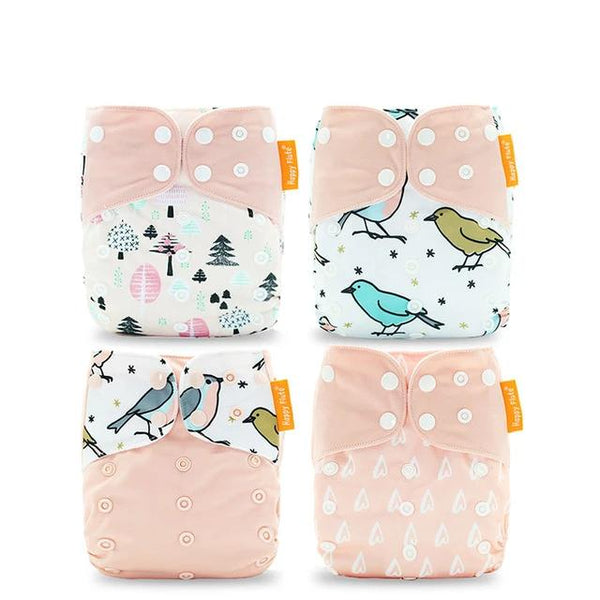 Reusable Diapers (Set of 4): Baby Pink