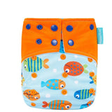 State of Baby Reusable Diaper - Fishes