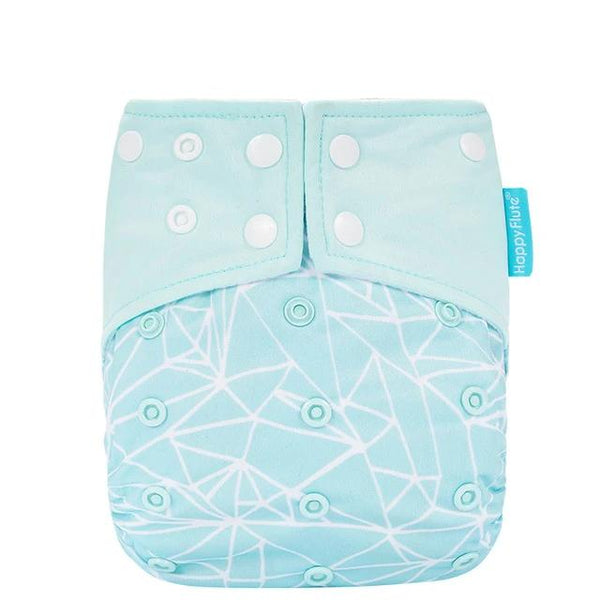 State of Baby Reusable Diaper - Geometric Blue