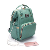 Diaper Backpack with USB Charger - Green | State of Baby
