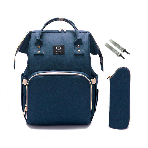 Diaper Backpack with USB Charger - Dark Blue | State of Baby