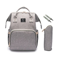 Diaper Backpack with USB Charger - Grey | State of Baby