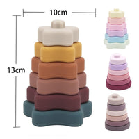 State of Baby Silicone Stacking Blocks - Earth