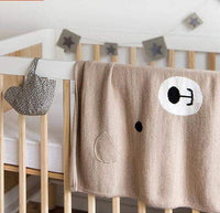 State of Baby Cotton Knit Bear Blanket