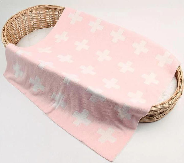 State of Baby Reversible Cross Pattern Acrylic Blanket