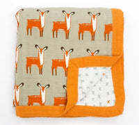 Muslin Baby Blanket (4 Layers) - Deer