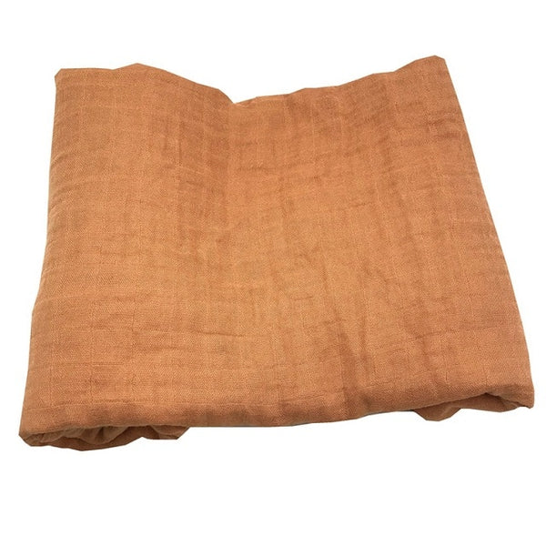 Bamboo Muslin Swaddle - Burnt Orange