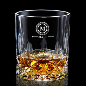 Personalised Engraved Whiskey Tumbler Glass 7oz