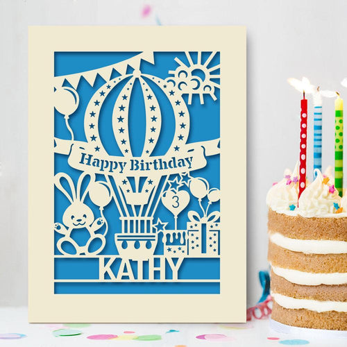 Personalised Birthday Card Ballon Style - EDSG