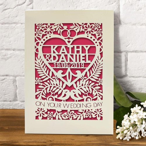Personalised  Wedding Greeting Card - EDSG