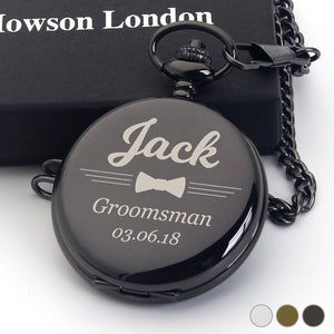 Personalised Engraved Pocket Watch Gift for Pageboy - EDSG