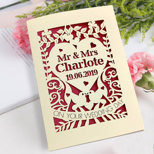Personalised Wedding Paper Card Mr & Mrs - EDSG