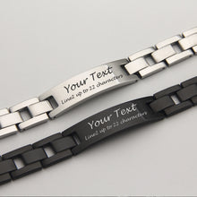 Load image into Gallery viewer, Personalised Mens Magnetic Bracelet - EDSG