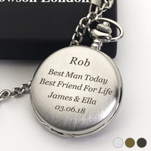 Load image into Gallery viewer, Personalised Engraved Pocket Watch Wedding Gift - EDSG