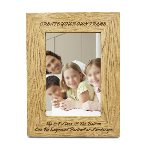 Personalised Engraved Wooden Photo Frame 7