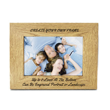 "Load image into Gallery viewer, Personalised Engraved 7"" X 5"" Wood Photo Frame - EDSG"