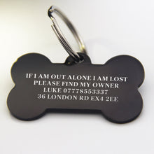 Load image into Gallery viewer, Personalised Engraved Stainless Dog Cat Tag