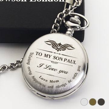 Personalised Pocket Watch Wedding Gift