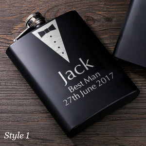 Personalised Hip Flask Wedding Gifts - EDSG