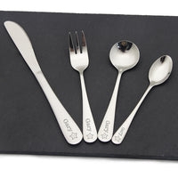 Personalised Kids Cutlery Stainless Flatware Gift - EDSG