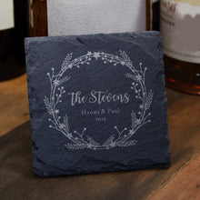 Load image into Gallery viewer, Personalised Engraved Slate Coasters Housewarming Wedding Gift - EDSG
