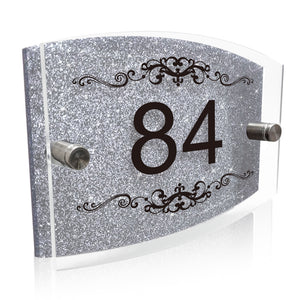 Personalised House Name Sign Door Plaque Number Only