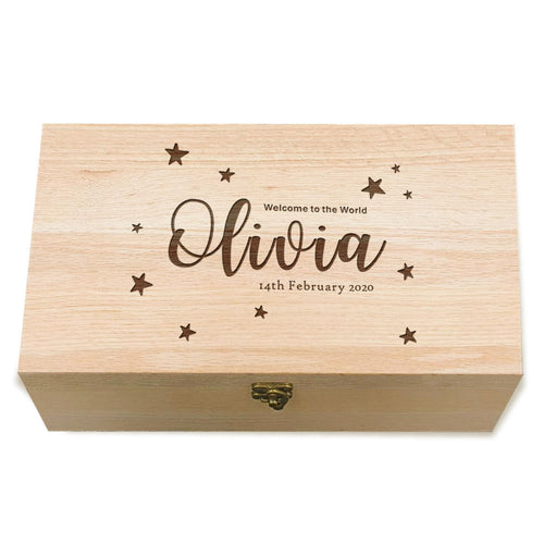 Personalised New Baby Memory Box - EDSG