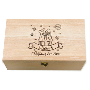 Personalised Christmas Wooden Box