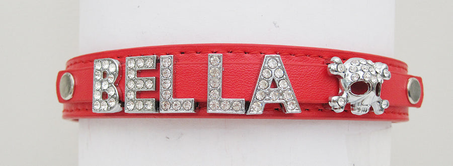 Personalised Dog Puppy Cat Pet Name PU leather Collar - EDSG